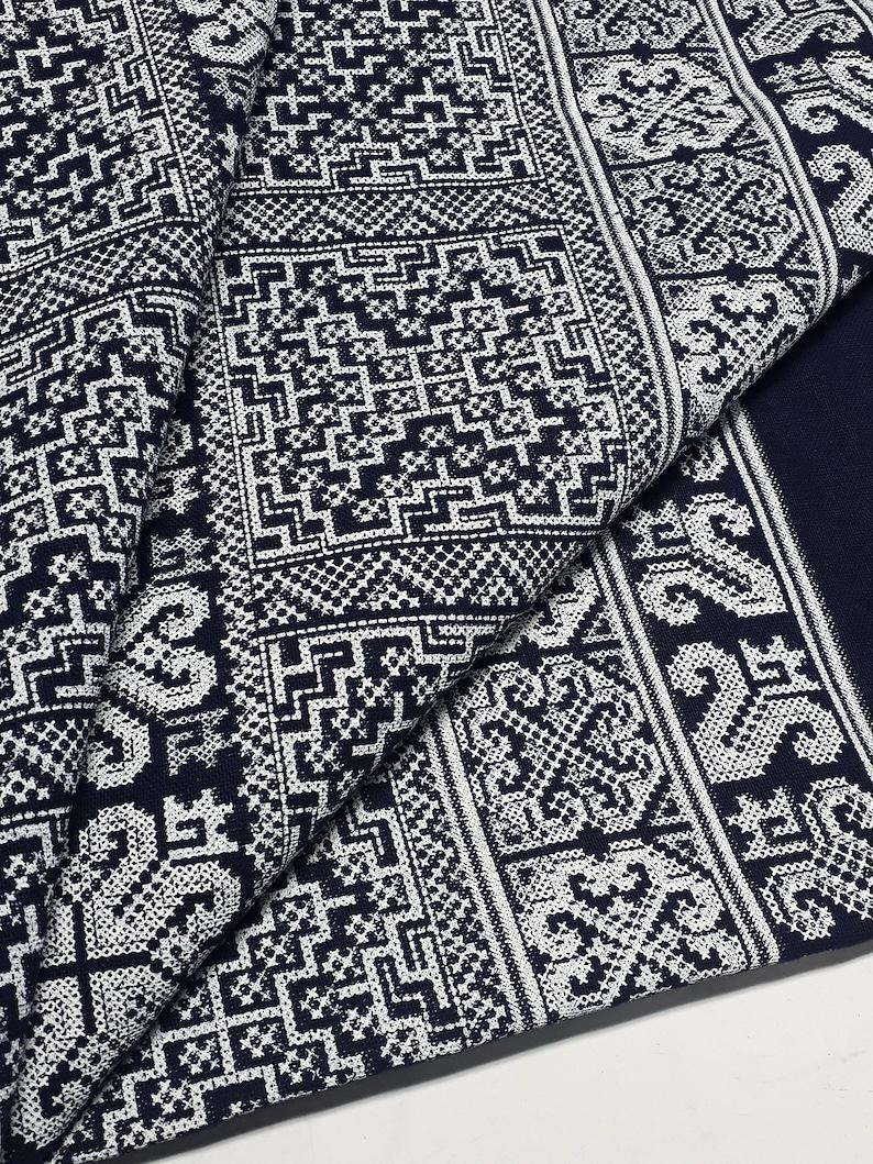 WFF100 Veradacraft Woven Fabric Tribal Fabric Native Fabric  Ethnic fabric Aztec fabric Craft Supplies Woven Textile 12 yard Black White