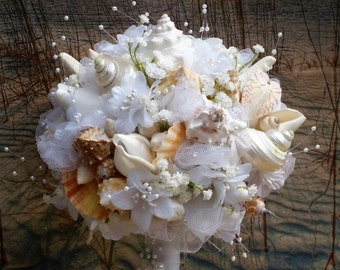 Starfish and Seashell Pearl Spray Pearl Flower Bouquet
