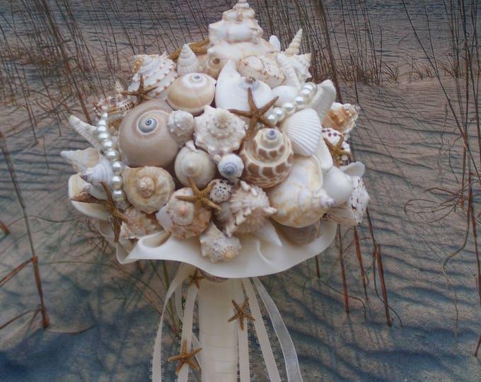 Starfish and Seashell  Beach Wedding Bouquet