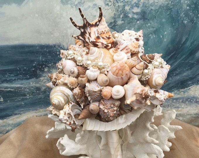 Seashell Bouquet / Ocean  Bouquet/ Seaside Bouquet/ Tropical Bouquet / Destination Bouquet/  Summer Bouquet/ Beach Bouquet Made to Order