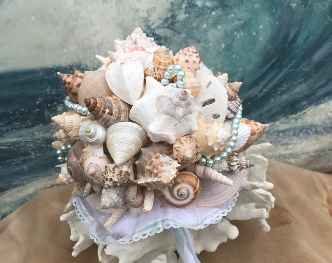 Touch of Aqua Starfish and Seashell Bouquet