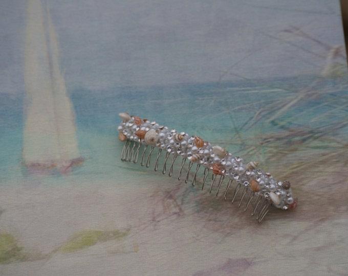 Beach Wedding Seashell Hair Accessory