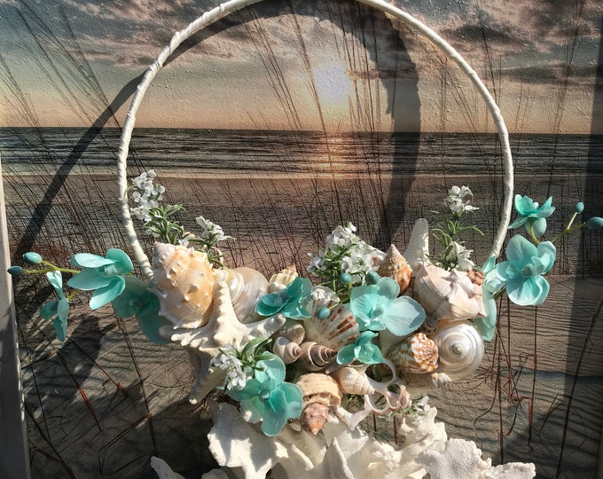 Aqua Seashell Bridal Trending Loop Bouquet