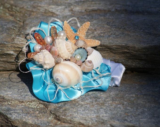 Sample wrist corsages seashell