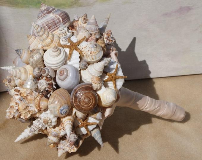 Starfish and Seashell Bouquet For Seaside, Beach, Destination, Cruise Wedding