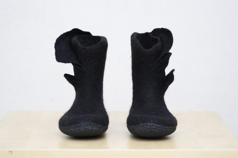 Stivali in feltro Ombre stivali pelle di renna donne tempo libero regalo Valenki inverno neve stivali stivali grigio marrone
