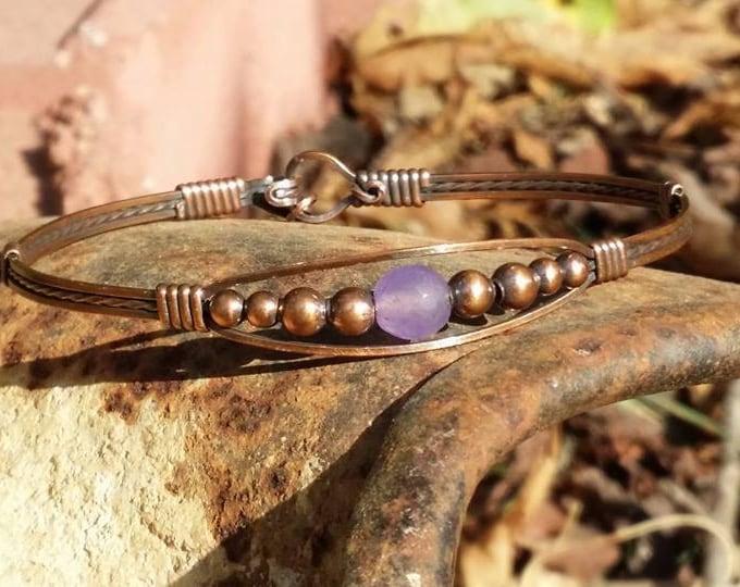 Copper Meaghan w/agate Bracelet, copper jewelry, agate jewelry, gemstone jewelry, antique jewelry, wire wrapped jewelry, wire jewelry