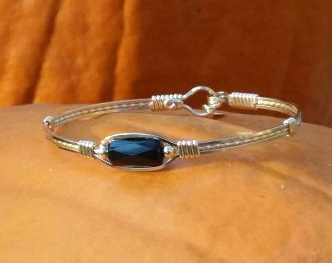 14kt Gold filled,gold jewelry, black onyx
