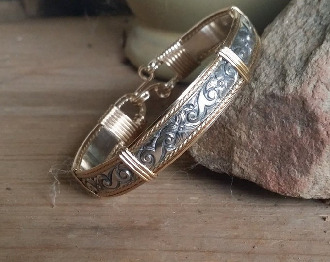 Sterling Silver, 14kt Gold Filled, gold bracelet, silver bracelet