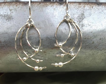 Sterling Silver earrings wire wrapped wire jewelry