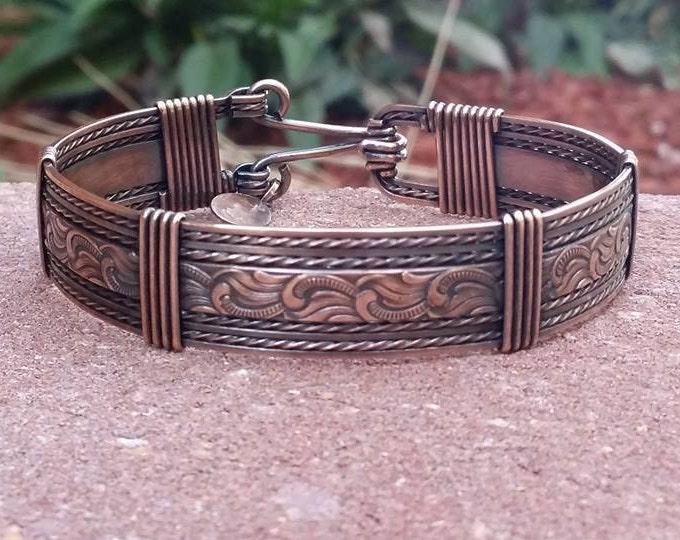 Muddy Waters Bracelet, Copper jewelry, copper bracelet, wire jewelry, wire wrapped jewelry, western jewelry, healing jewelry