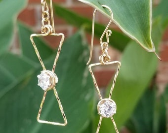Timeless- 14kt gold filled, cubic zirconia