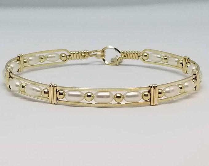 Pearl Bracelet, Gold Bracelet