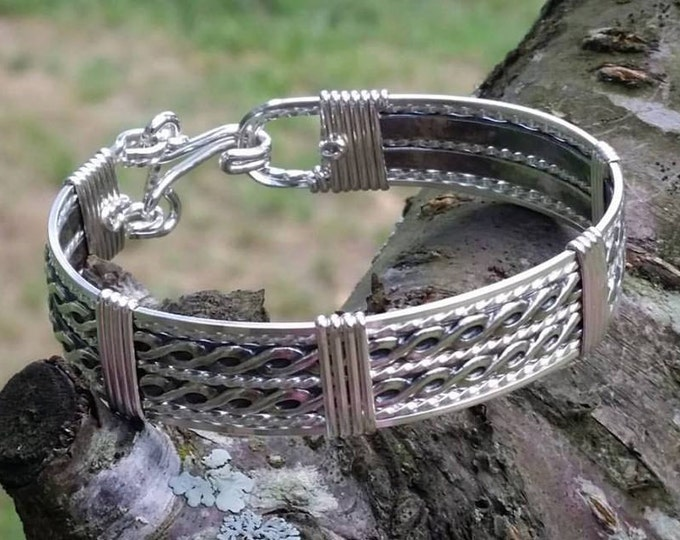 Sterling Silver, Silver jewelry, silver bracelet, wire wrapped jewelry,wire wrapped bracelet
