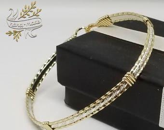Gold and silver bracelet,elegant bracelet
