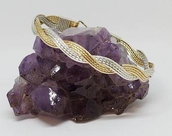 14kt Gold Filled and Fine Argentium Silver bracelet
