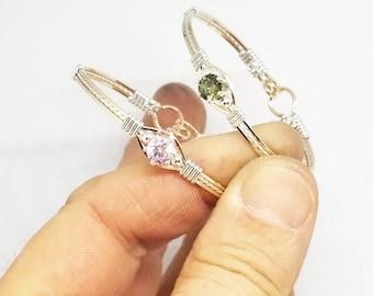 Baby Bracelet, birthstone bracelet, gold and silver bracelet