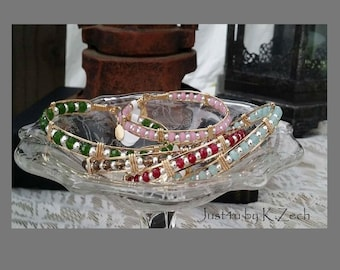 Gemstone Bangle Bracelet, 14kt Gold Filled, Gold, Sterling Silver, Semi Precious Gemstone, Agate, Quartz, Crystal