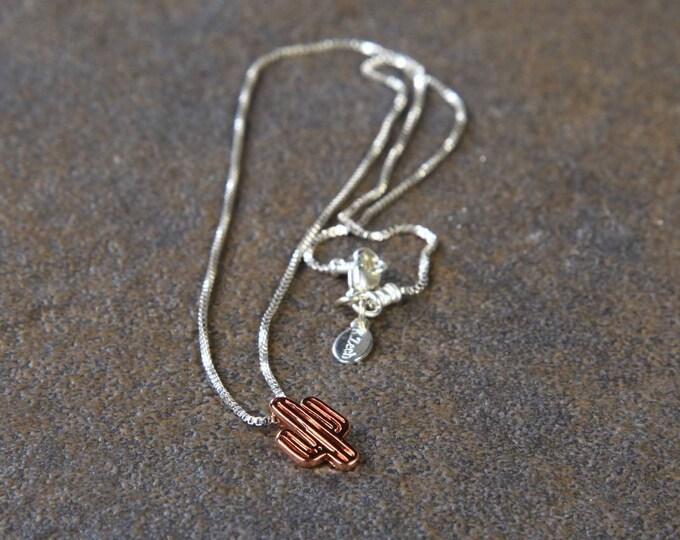 Rose Cactus Necklace, minimalist, desert, southwestern