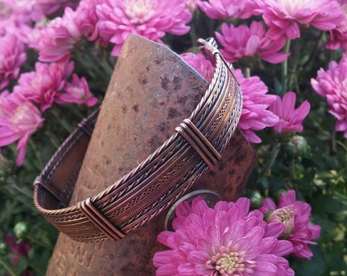 Copper bracelet, Wire Wrapped, Wire Jewelry