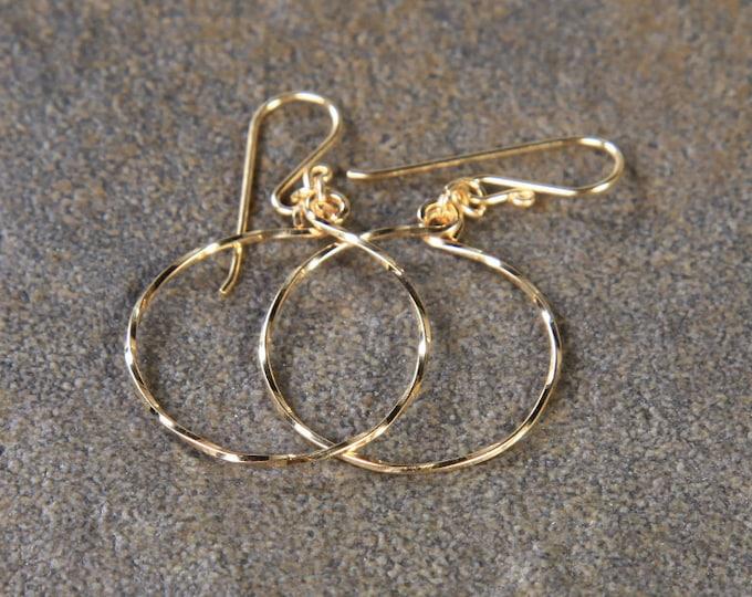 Circle of Life Earrings, 14kt Gold Earrings, Silver Earrings, Minimalist Earrings, Hoop Earrings