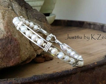 Silver jewelry, pearl jewelry, Argentium silver, Freshwater pearls, Handmade