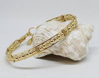 14kt GF bracelet, Gold Bracelet, Gold Beaded Bracelet