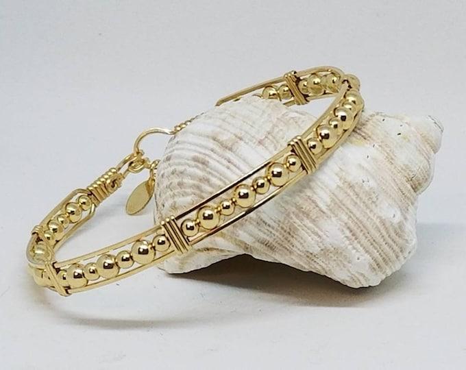 Gold Jubilee- 14kt GF bracelet, Gold Bracelet, Gold Beaded Bracelet