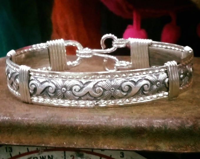 Sterling silver, silver, argentium silver, silver bracelet, sterling silver bracelet, argentium silver bracelet, antique silver bracelet