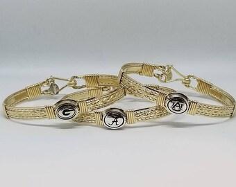 College bracelet, Team Bracelet, Gold Team Bracelet, Alabama Bracelet, Georgia Bracelet, Auburn Bracelet, SEC Bracelet
