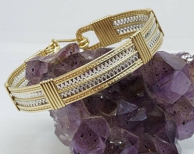 The Little Persian- Wire wrapped, gold filled, sterling silver
