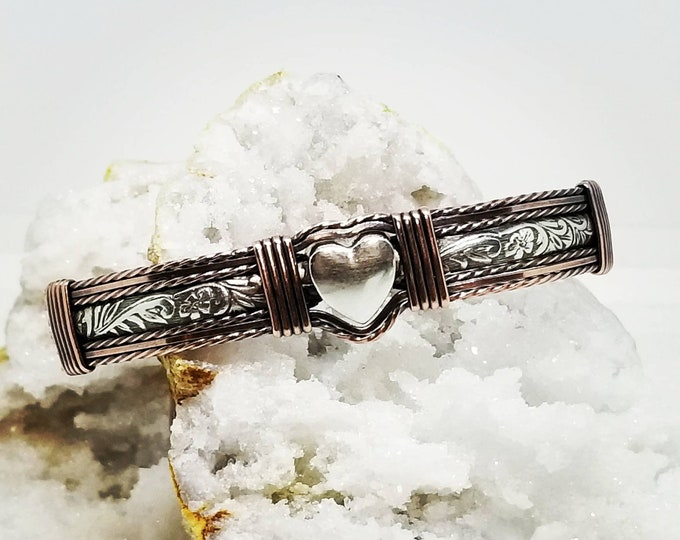 Country Love Bracelet: Sterling Silver and Copper