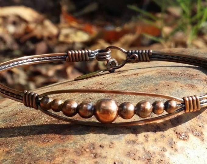 Copper Meaghan Bracelet, Copper Jewelry, Wire wrapped Jewelry, Wire Jewelry