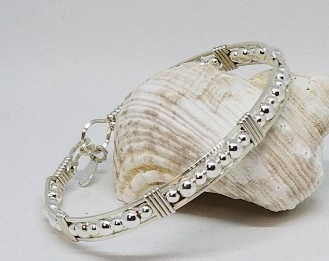 Silver Jubilee bracelet, Argentium Silver, Sterling Silver, Silver bracelet