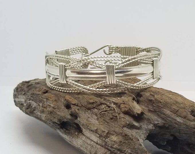 Silver Contessa, Sterling Silver, Silver, Bracelet, Hand crafted, handmade, fashion jewelry