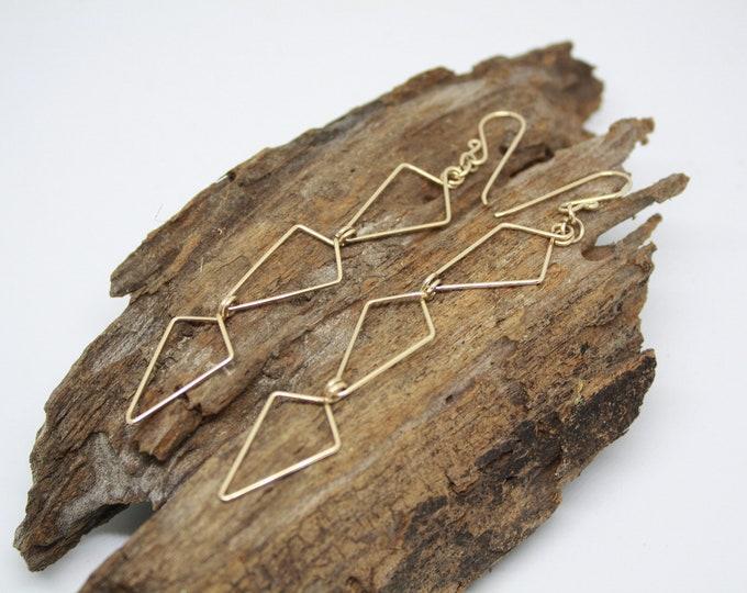 Wanderlust Earrings, Arrow Earrings, Gold earrings, Gold Arrow earrings