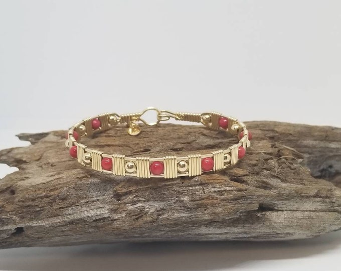 Love me too: 14kt GF and Red Jade