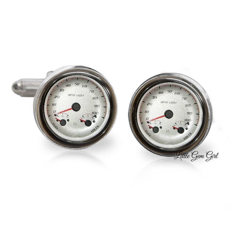 Car Speedometer Cuff Links  Classic Car Hot Rod Cufflinks  image 0