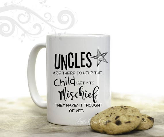Uncle Coffee Mug Funny Uncle Gift 15 Ounce Ceramic Coffee Etsy