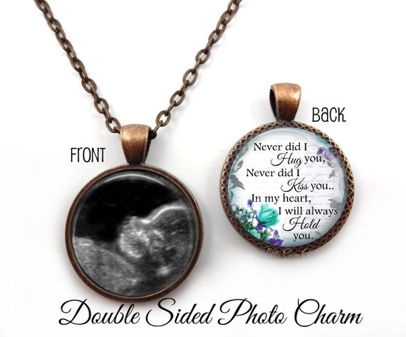 Personalized memorial necklace custom photo miscarriage etsy