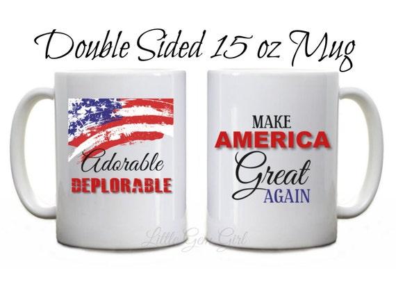 Deplorable Trump Political Funny Coffee Mugs