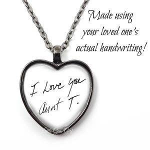 Signature Necklace Custom Loved Ones Handwriting Necklace or Key Chain Personalized Handwriting Jewelry Child/'s Drawing Jewelry