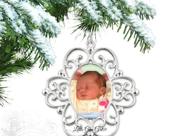 Photo Christmas Tree Ornament - Baby First Christmas - Baby's 1st Christmas Ornament - Custom Photo Ornament - Personalized Ornament
