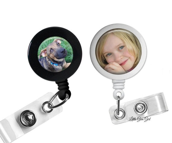 Custom Photo Retractable Badge Holder - Photo ID Badge - Custom Photo Badge  Reel - Personalized Badge Reel Custom Nurse Badge Picture Badge