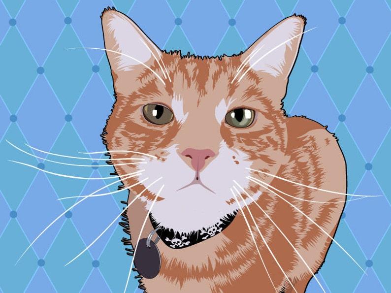 Custom Cartoon Pet Portrait Pop Art image 0