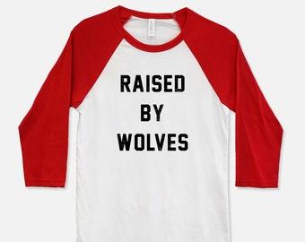 Raised By Wolves Baseball T-Shirt - Unisex 3/4 sleeve