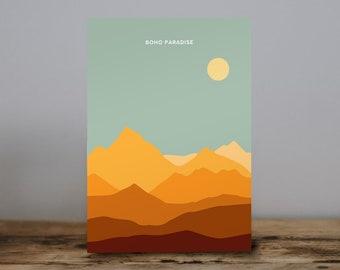 Boho Paradise Print 5x7 Blue Ridge Mountains sunset landscape north carolina