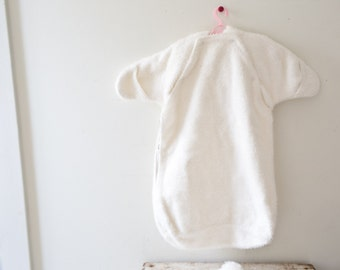 91d08b8717f Vintage Baby Bunting Wool White Baby Snow Suit White Snowsuit
