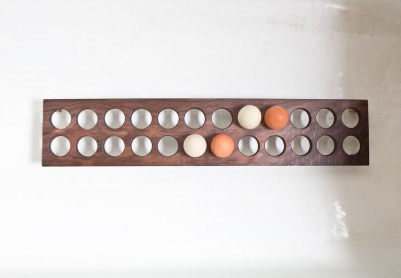 Long Egg Holder Farm Table  Farmhouse Wooden Egg Stand Egg image 0