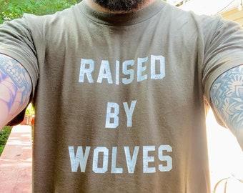 Raised By Wolves Tshirt - Adult Unisex Tee Shirt American Apparel
